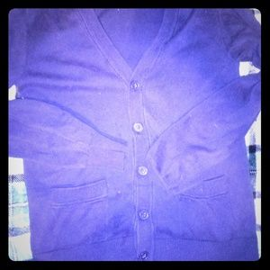 Blue cardigan School sweater